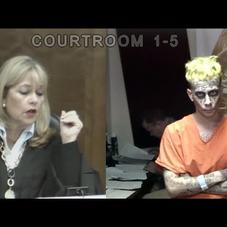 A Man Who Looks Like The Joker In Court For Alledgedly Waving Guns At Cars In Miami