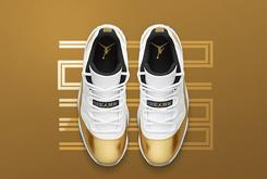 "Release Reminder: The ""Metallic Gold"" Air Jordan 11 Low Releases Tomorrow"
