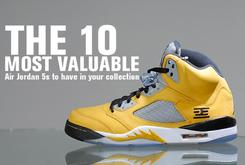 The 10 Most Valuable Air Jordan 5s To Have In Your Collection