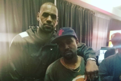 "LeBron James & Other Cavs Were In The ""Moshpit"" At Kanye West's Cleveland Show"