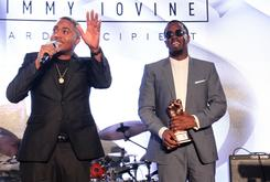 Diddy Presents Nas With The Jimmy Iovine Icon Award At 2016 REVOLT Conference