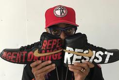 Spike Lee Shows Off Custom Anti-Trump Jordans