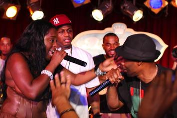 """Foxy Brown """"Debuts New Song In NYC, Falls Off Stage"""" Video"""