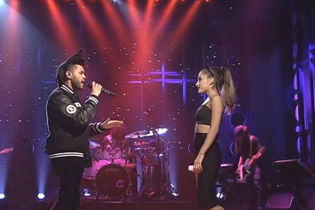 "Ariana Grande & The Weeknd Perform ""Love Me Harder"" on SNL"