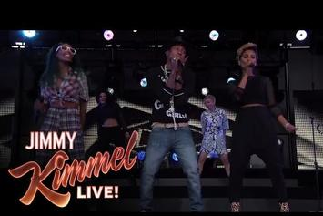 "Pharrell Performs ""Come Get It Bae"" On Jimmy Kimmel"