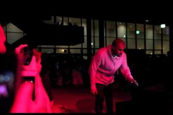 "Kanye West Performs ""New Slaves"" Acapella In Switzerland"