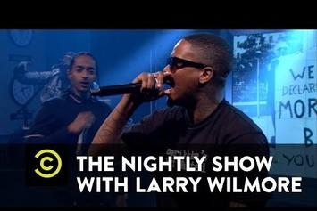 """YG & Nipsey Hussle Perform """"F*** Donald Trump"""" On The Nightly Show"""