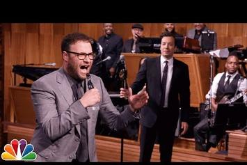 """Seth Rogen Does Drake's """"Hotline Bling"""" and The Roots' """"Mellow My Man"""" On Lip Sync Battle"""
