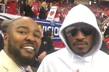 Future & Bow Wow On Sideline At Falcons-Seahawks Game