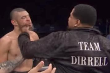 Wild Scene As Boxer Andre Dirrell's Uncle Sucker Punches His Opponent After Match