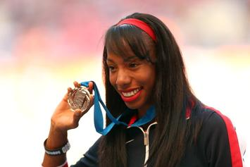 Olympian Brigetta Barrett Unveils Exclusive Gold Air Jordan Collection