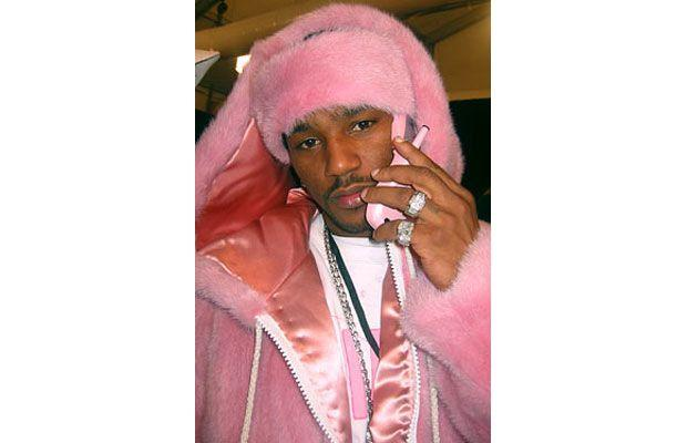 Cam'Ron in the pink mink