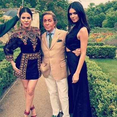 Khloe, Kendall and Valentino