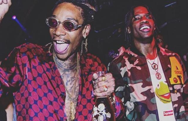 Wiz Khalifa & Travis Scott partying in club