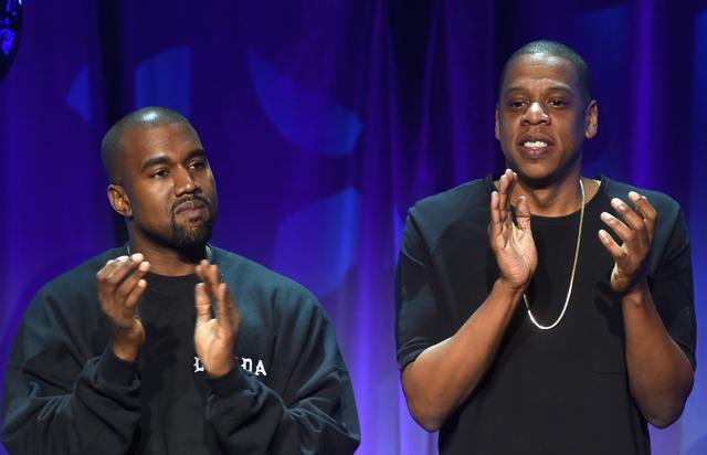 Kanye West and Jay Z at Tidal Launch Event NYC #TIDALforALL