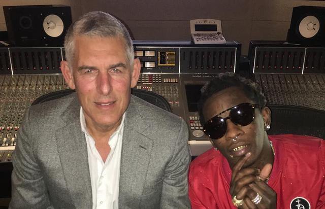 Young Thug and Lyor Cohen in the studio