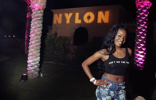 Azealia Banks attends the NYLON Midnight Garden Party at a private residence on April 10, 2015 in Bermuda Dunes, California.