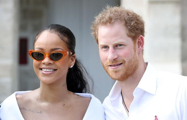Rihanna and Prince Harry attend the 'Man Aware' event held by the Barbados National HIV/AIDS Commission on the eleventh day of an official visit on December 1, 2016 in Bridgetown, Barbados.