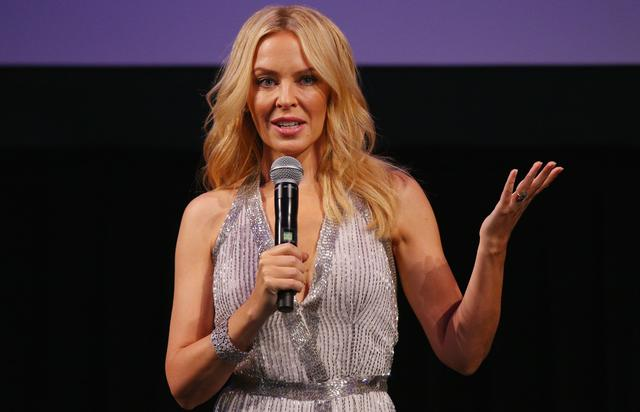 """Kylie Minogue at """"Kylie On Stage"""" event."""