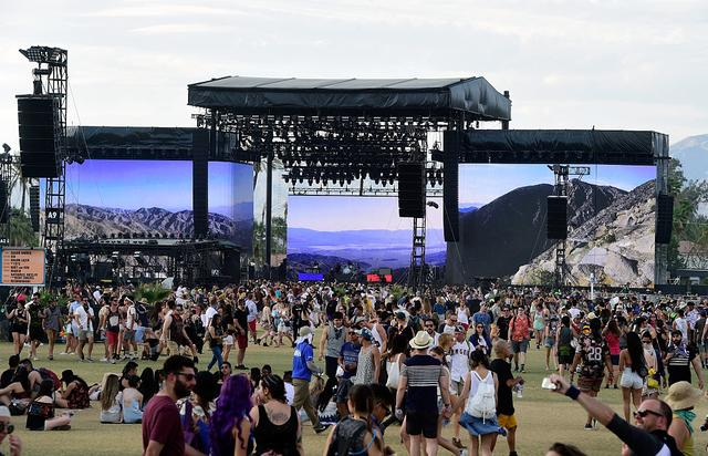 Music fans during day 3 of the 2016 Coachella Valley Music & Arts Festival Weekend 2 at the Empire Polo Club on April 24, 2016 in Indio, California.
