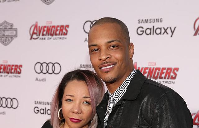 Tameka 'Tiny' Harris (L) and recording artist Cliffors 'T.I.' Harris attend the world premiere of Marvel's 'Avengers: Age Of Ultron' at the Dolby Theatre on April 13, 2015 in Hollywood, California.