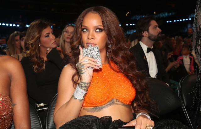 Rihanna during The 59th GRAMMY Awards at STAPLES Center on February 12, 2017 in Los Angeles, California.