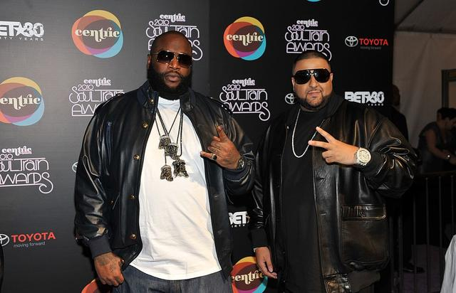 (L-R) Recording Artist Rick Ross and DJ Khaled attend the 2010 Soul Train Awards at the Cobb Energy Center on November 10, 2010 in Atlanta, Georgia.