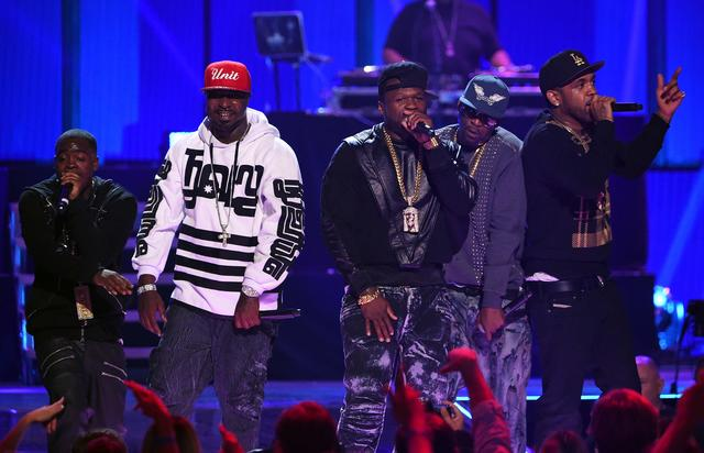 G-Unit performs at 2014 iHeart Radio Festival