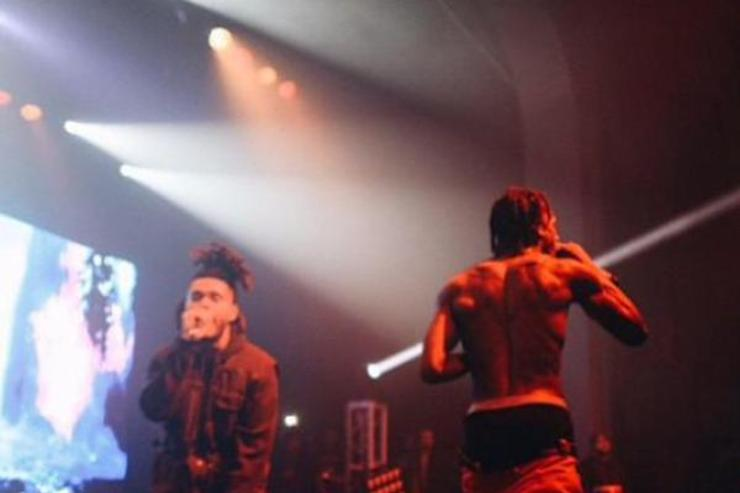 "Travi$ Scott & The Weekend Performed ""Antidote"" Together In Houston Last Night houston"