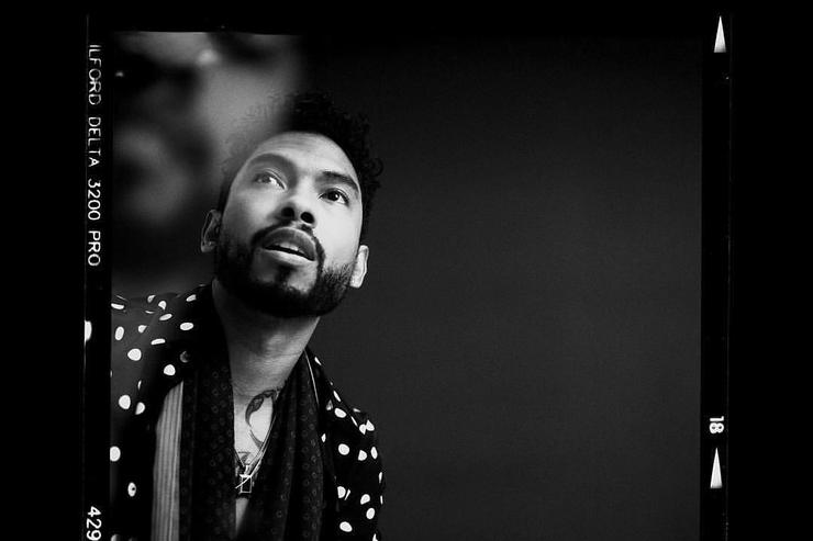 Miguel posing for Wonderland magazine