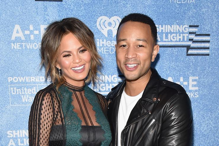 Chrissy Teigen and John Legend at A+E Networks 'Shining A Light' Concert