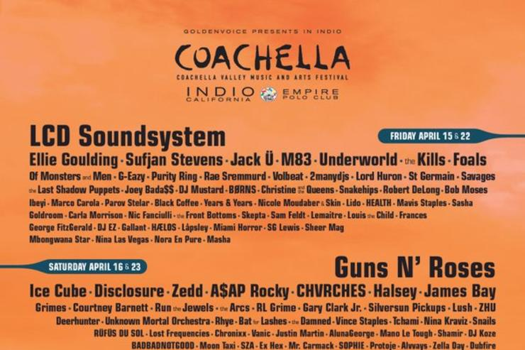 2016 Coachella flyer/line up
