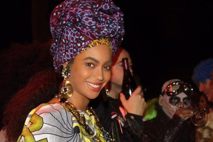 Beyonce dressing African woman for Halloween