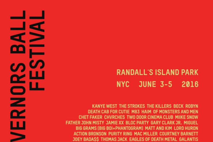 The 2016 Governors Ball Music Festival Lineup