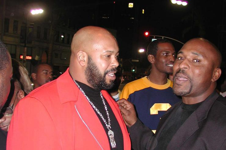 Suge Knight attends the 44th Annual Grammy Awards in 2002