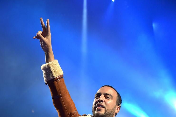 French Montana at a TIDAL event