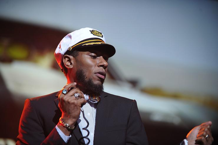 Yasiin Bey performs with the Gorillaz in 2010.