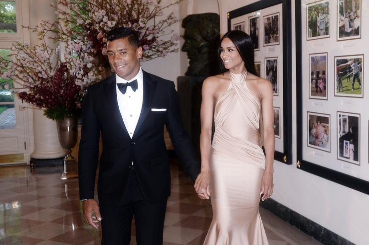 Ciara and Russell Wilson at President Obama And First Lady's State Dinner