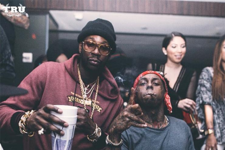 Lil Wayne & 2 Chainz together in the club