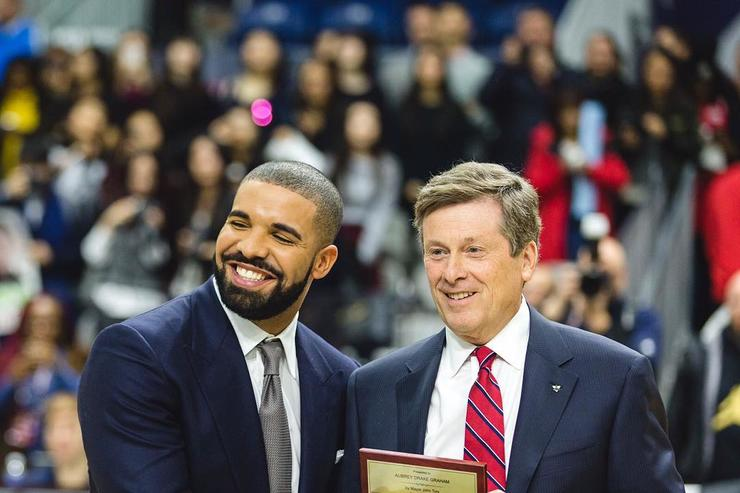 Drake & Toronto's Mayor getting key to the city