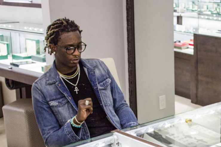 young thug at the jeweler