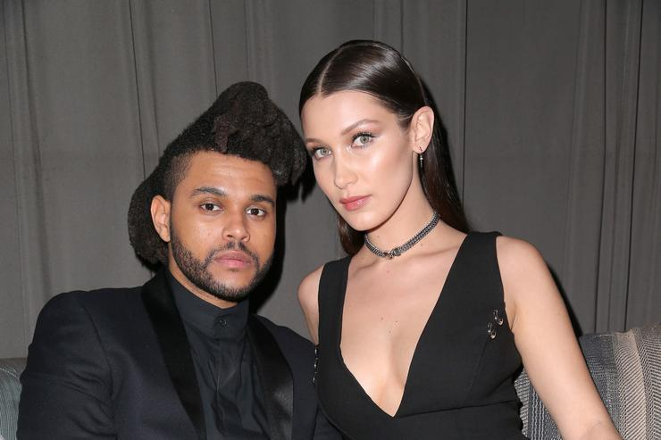 Bella Hadid and The Weeknd at the republic records celebration