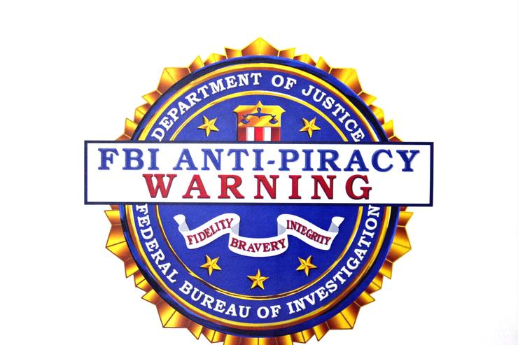 The FBI's Anti-Piracy seal.