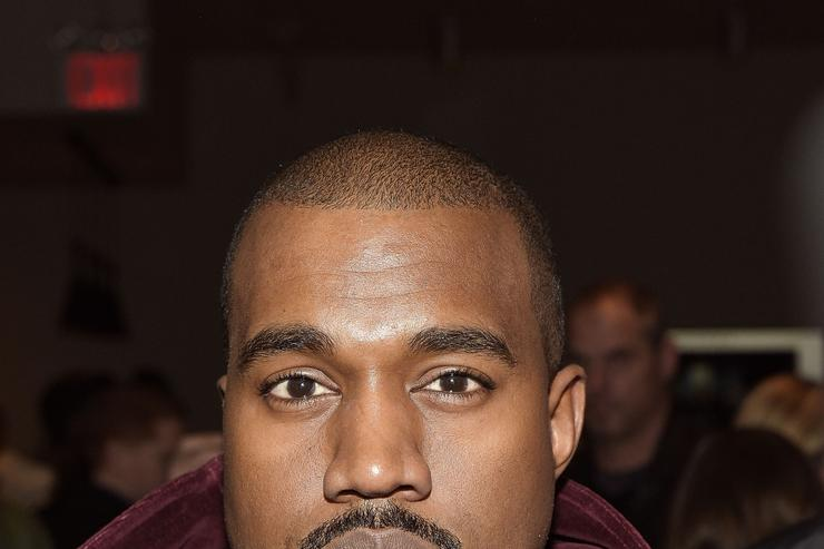 Kanye West attends the Jeremy Scott show during MADE Fashion Week Fall 2015 at Milk Studios on February 18, 2015 in New York City.