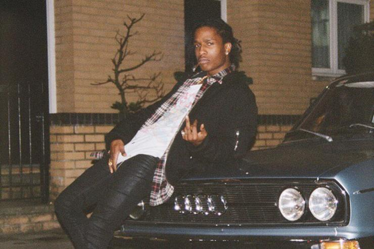 ASAP Rocky next to a car in London