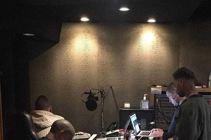 Kanye West, Mike Dean, Kid Cudi​, and Plain Pat