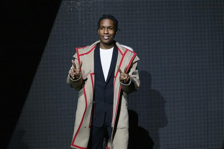 ASAP Rocky at Dior event for Paris Fashion Week