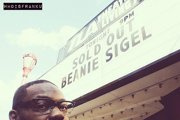 Beanie Sigel outside of his sold-out show