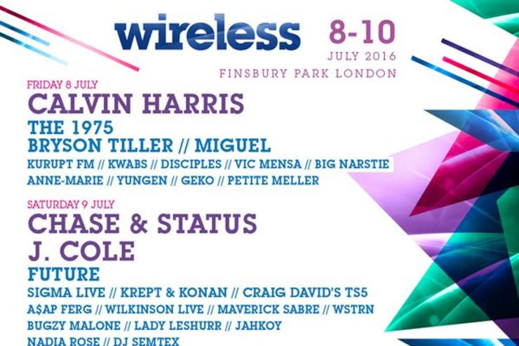 J. Cole, Future, Bryson Tiller, A$AP Ferg, Young Thug, Jeremih, Vince Staples, Ty Dolla $ign, Miguel, Vic Mensa, Anderson .Paak, Yelawolf, and Skepta's Boy Better Know crew to perform at 2016 wireless festival