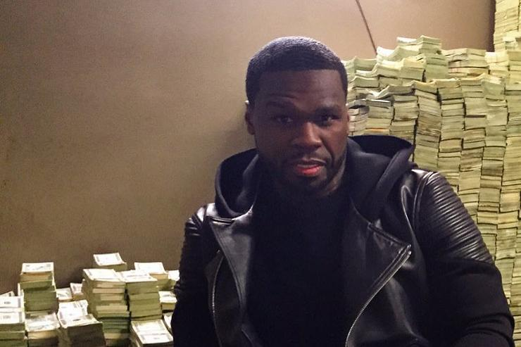 50 Cent and his stacks of cash